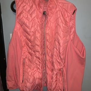 Maurices pink quilted vest